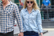 Emma Stone Denim Shirt