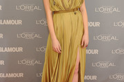 Emma Stone's Red Carpet Gown for Glamour's Women of the Year Was Very Grecian [Pictures]