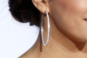 Eva Longoria Diamond Hoops