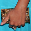 Eve Handbags - Gemstone Inlaid Clutch