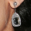 Freida Pinto Dangling Gemstone Earrings