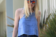 Dakota Fanning Loose Blouse