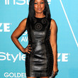 Garcelle Beauvais Leather Dress