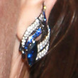 Georgina Chapman Dangling Diamond Earrings