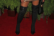 Havana Brown Over the Knee Boots