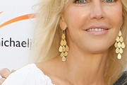 Heather Locklear Gold Chandelier Earrings