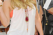 Hilary Duff Wooden Beaded Necklace