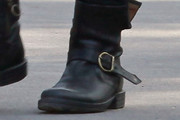 Hilary Swank Motorcycle Boots