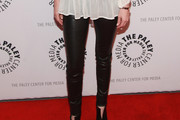January Jones Leather Pants