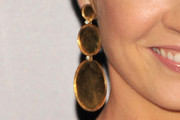Jenna Elfman Gold Chandelier Earrings