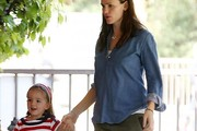 Jennifer Garner Denim Shirt