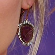 Jennifer Nettles Jewelry - Dangling Gemstone Earrings