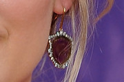 Jennifer Nettles Dangling Gemstone Earrings