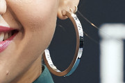 Jessica Alba Hoop Earrings