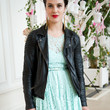 Jessica Brown-Findlay   Clothes - Leather Jacket
