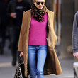 Jessica Hart Clothes - Wool Coat
