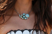 Jessica Lowndes Gemstone Collar Necklace