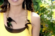 Jessica Sanchez Feathered Earring