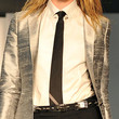 Jessica Stam Narrow Solid Tie