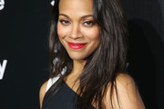 Zoe Saldana Layered Cut