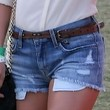Julianne Hough Clothes - Denim Shorts