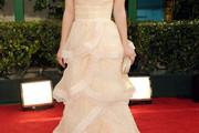 Kaley Cuoco Wears Catherine Kidd at the Golden Globe Awards