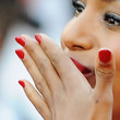 Kerry Washington Beauty - Red Nail Polish