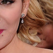 Kim Cattrall Dangling Diamond Earrings