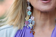 Kim Cattrall Gemstone Chandelier Earrings