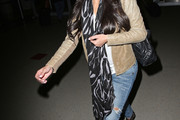 Kim Kardashian Patterned Scarf