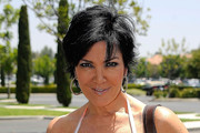 Kris Jenner Short Side Part