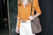 Kristen Bell Suede Shoulder Bag