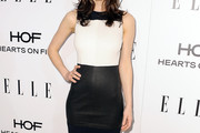 Alexandra Daddario Leather Dress