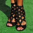 La La Anthony Shoes - Gladiator Heels