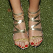 Laura Vandervoort Strappy Sandals