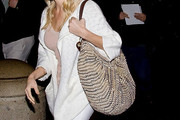 LeAnn Rimes Metallic Hobo