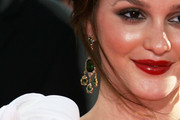 Leighton Meester Gemstone Chandelier Earrings