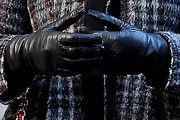 Leighton Meester Leather Gloves