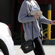 Leighton Meester Leather Messenger Bag