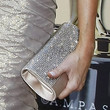 Leticia Cyrus Metallic Clutch