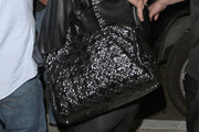 Lindsay Lohan Patent Leather Tote