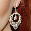 Lindsay Lohan Sterling Dangle Earrings