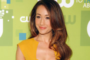 Maggie Q Dons Long Wavy Cut to CW Upfront Event