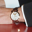 Matt Damon Watches - Leather Band Quartz Watch