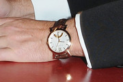 Matt Damon Leather Band Quartz Watch