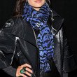 Mena Suvari Patterned Scarf