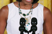 Michelle Obama Gemstone Chandelier Necklace