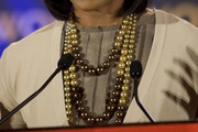 Michelle Obama Layered Pearl Necklace