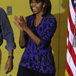 Michelle Obama Clothes - Print Blouse