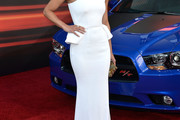 Michelle Rodriguez One Shoulder Dress